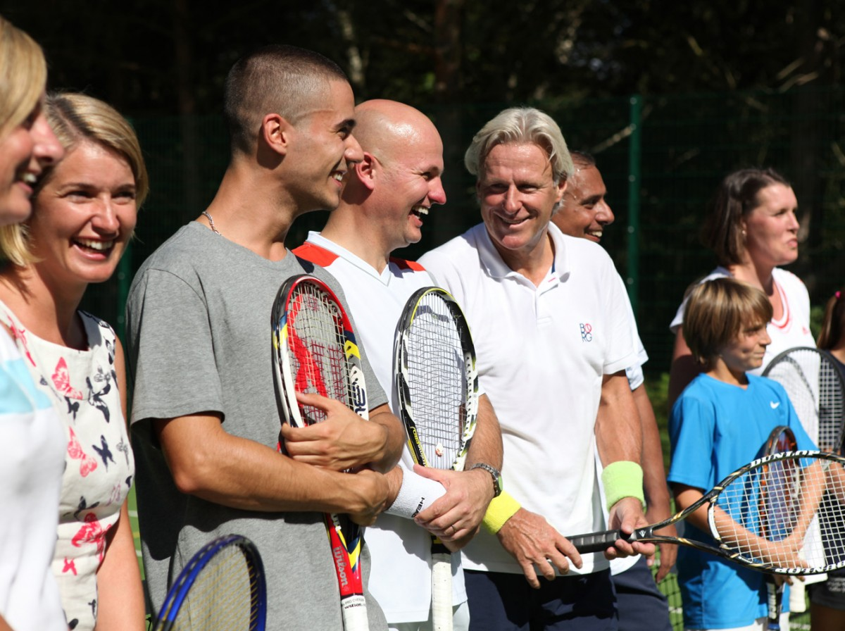 Bjorn Borg the famous Swedish tennis player at an exhibition match to launch Lifestyle Fitness and Centrepoint partnership