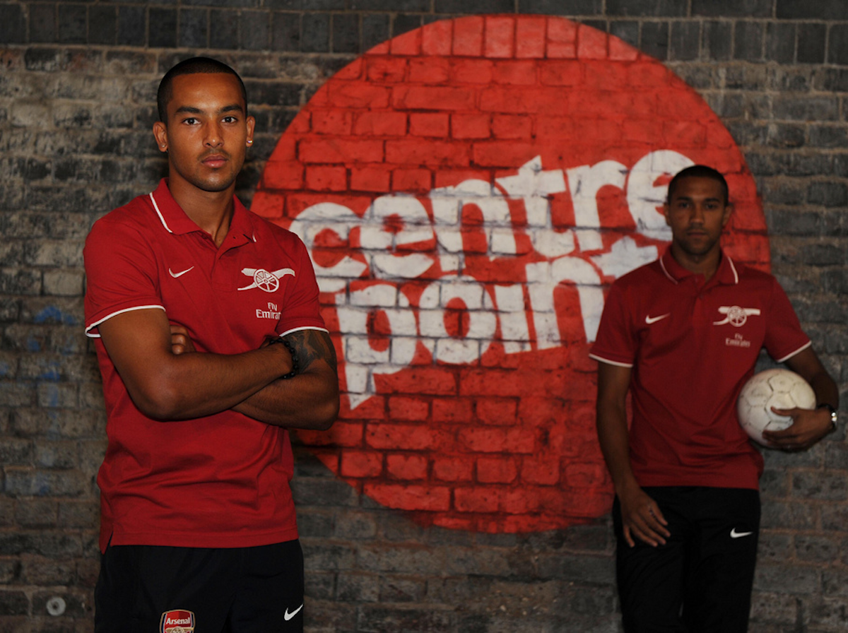 Image shows Theo Walcott, Arsenal and England footballer supports Centrepoint