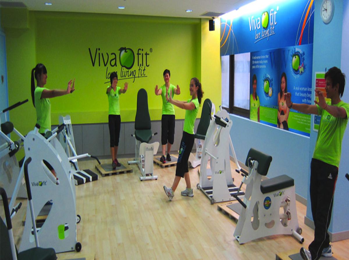 Women exercising inside a Vivafit gym Portugal