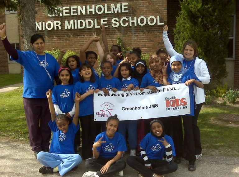 Group of children from GoodLife Kids Foundation - Greenholme-JMS-Girls-on-the-Run